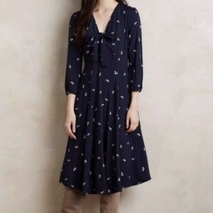 Sleeve Midi Dress Navy Floral 11•1 Tylho *EXCLUDED